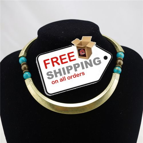 Ethnic Style Bohemia Turquoise New Design Choker Necklace Statement jewelry. Starting at $8