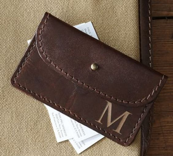 Saddle Leather Business Card Holder