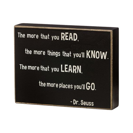 Dr Seuss Learn To Read Box Sign from MUSEUM OUTLETS
