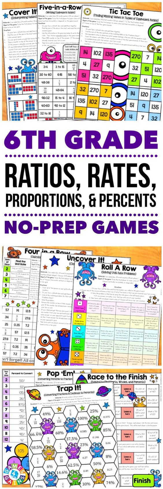 6th Grade Math Games Ratios Proportions Unit Rates 6 Rp 1 6 Rp 2 6 Rp 3 6th Grade Math Games Sixth Grade Math Classroom Math Games