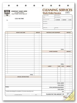 6527 Cleaning Company Contract Work Order Form
