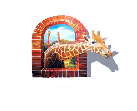 """Bird Fiy 3D Giraffe Decor Nursery Bedroom Fake Window Animal Vinyl Decals Wall Sticker / Wall Mural-27.6""""X39.4""""(VC9256). TOP QUALITY the stickers of Net 1 are made from environmental PVC with SGS validation and all of them are waterproof and repositionable, which can maintain no less than 5 years for your artistic appreciation. PASTE IN MINUTES clean and dry the surface with soft cloth and towel;peel off the top of graphic sticker carefully and then paste it on the place;rub sticker…"""
