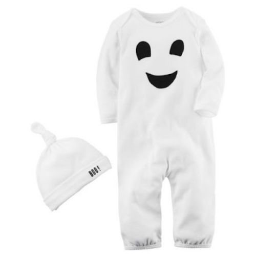 NWT CARTER/'S JUST ONE YOU PUMPKIN GHOST MY 1ST HALLOWEEN OUTFIT INFANT HAT NB