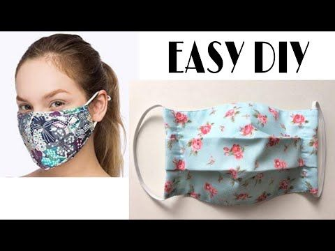 How To Make A Medical Face Mask With Filter Pocket Diy
