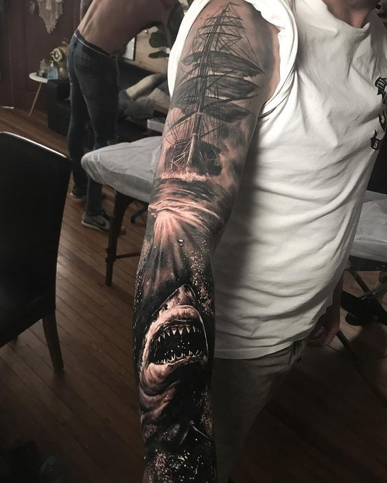 Tattoo Artist Damon Holleis Tattoo Artists Pirate Tattoo Sleeve Nautical Tattoo Sleeve
