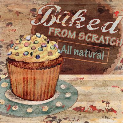 Image detail for -Baking Sign II Poster by Paul Brent - AllPosters.co.uk: Art Cupcakes, Baking Posters, Cupcake Art, Cupcakes Art, Ii Poster