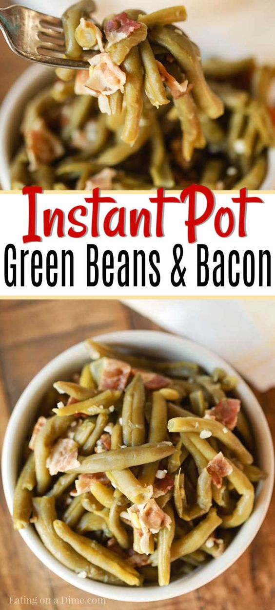 Instant pot Green Beans and Bacon