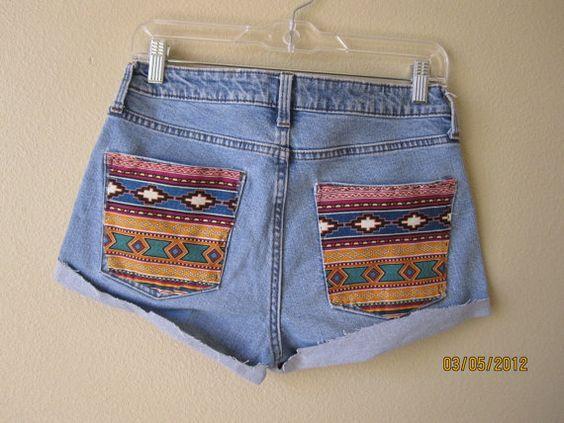 Aztec print shorts :)