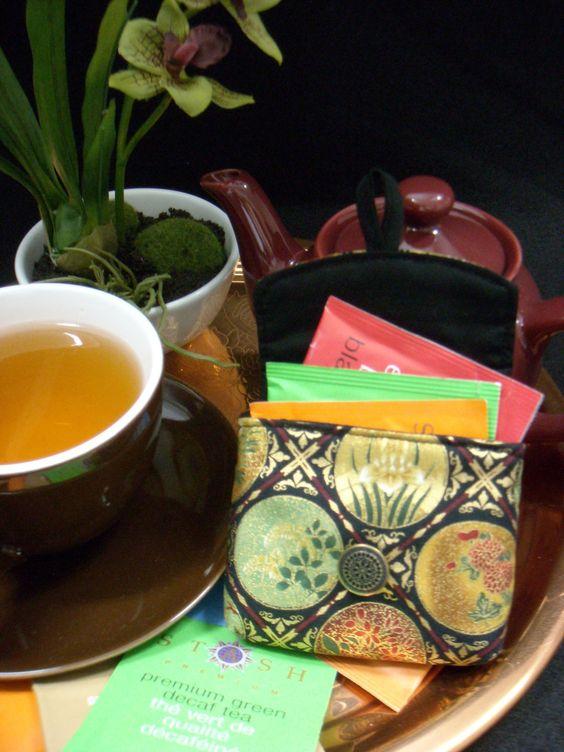 Tea Bag Travel Wallet - Imperial Black, $9.95