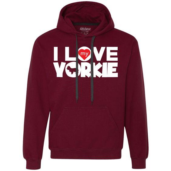 I Love My Yorkie - Heavyweight Pullover Fleece Sweatshirt