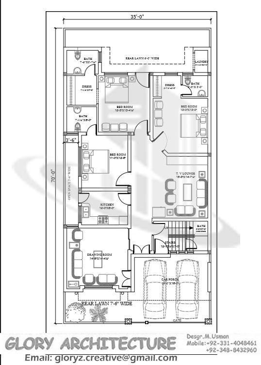8 marla house plan design | Front Elevation | Pinterest | House ...