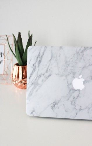 Laptop Decal Cover in Black and White Marble - 13 Inch MacBook air