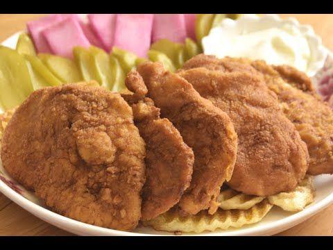 اسكالوب دجاج وطريقة النقع والقلي الصحيحة حصريا على قناتي تابعوها من داخل مطعم دجاج الزين Youtube Food Desserts Chicken