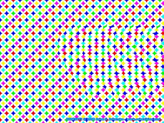 Cool Stereograms | actually two stereograms combined half of the colored
