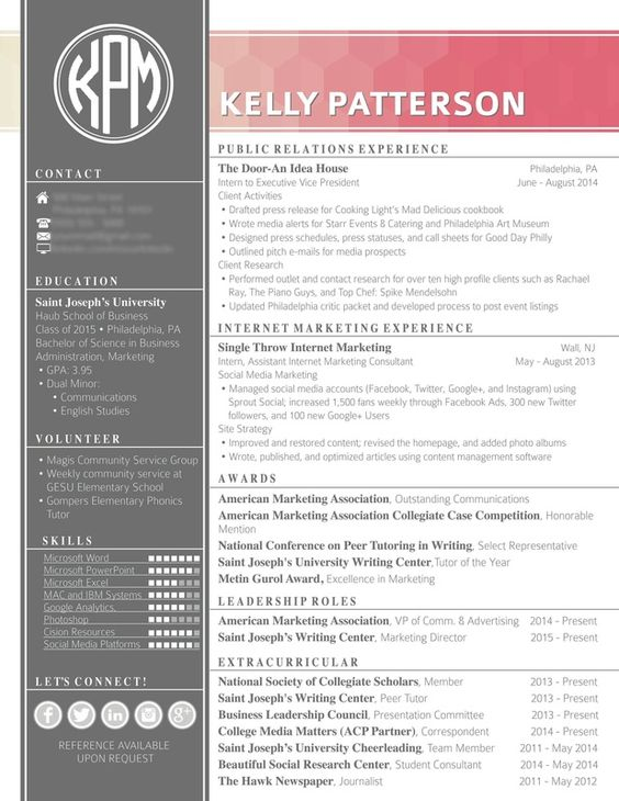 Unique Resume u2014 InDesign INDD #modern #cs3 u2022 Available here - club security officer sample resume