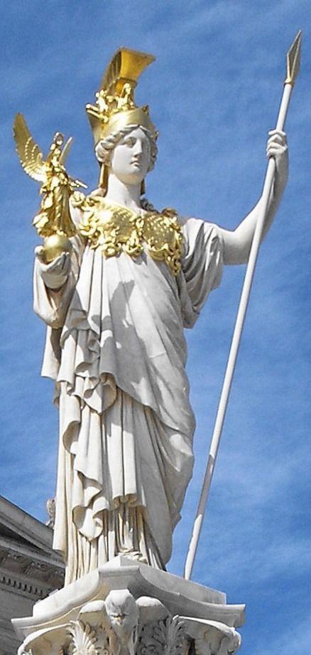 La diosa Atenea, al frente del Parlamento de Viena