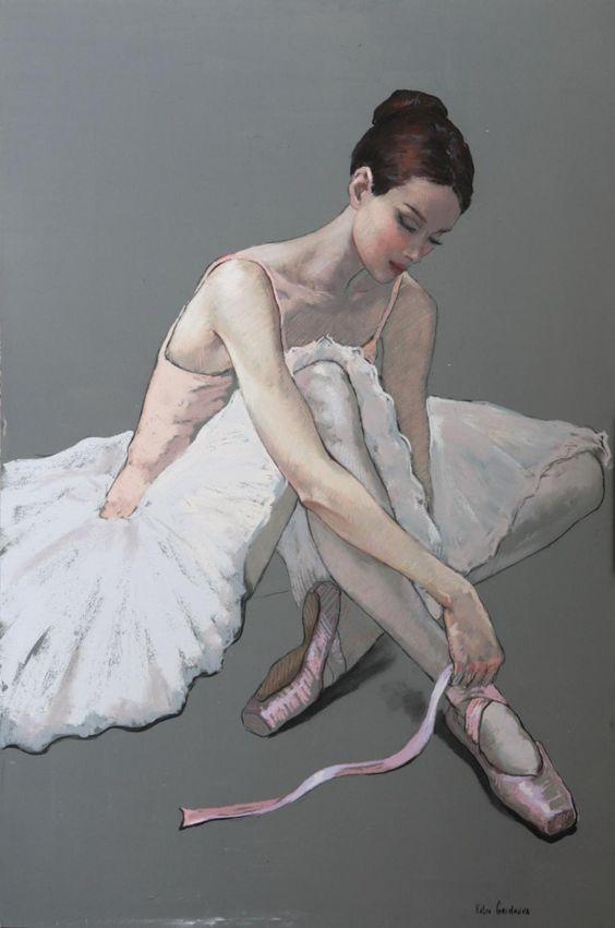 Dancer Tying Ribbons   John Noott Galleries:
