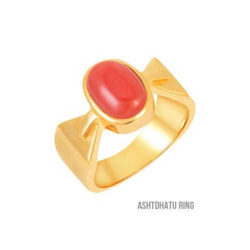 Astrology Purpose Natural Red Coral Munga Gemstone Ring For Women/'s and Men/'s