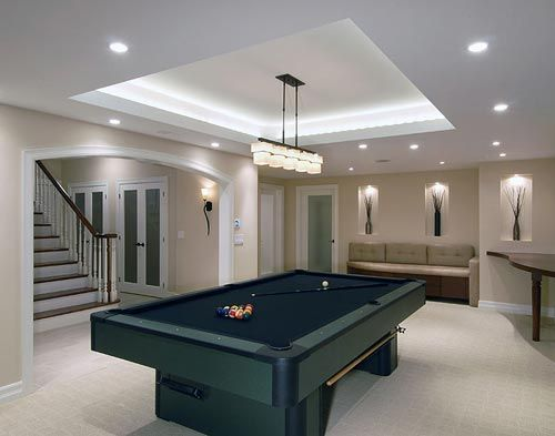 coffered ceiling lighting. what an incredible use of a lit coffered ceiling recessed lighting sconces and niches club level pool table area pinterest basements cu2026 g