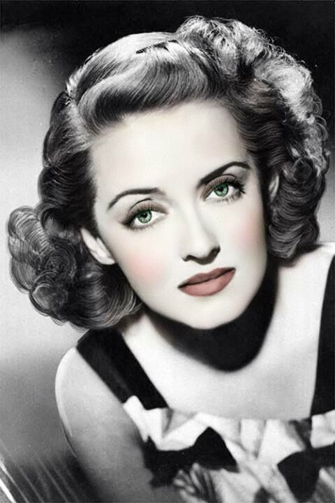 Beautiful tinted photo of Bette Davis | Bette davis, Bette davis ...