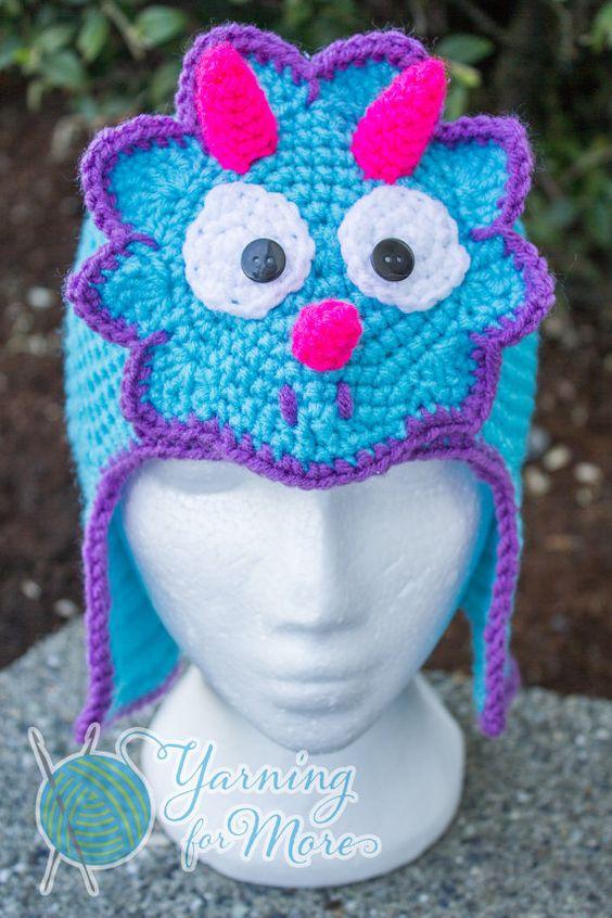 Crochet Dinosaur Triceratops Hat by YarningforMore2011 on ...