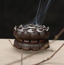 Handmade ceramic incense censer church lotus base incense home accessories NEW