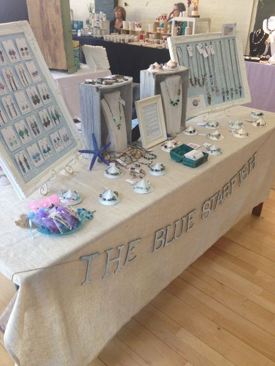 The Blue Starfish handmade jewellery stall in Hungerford Town Hall