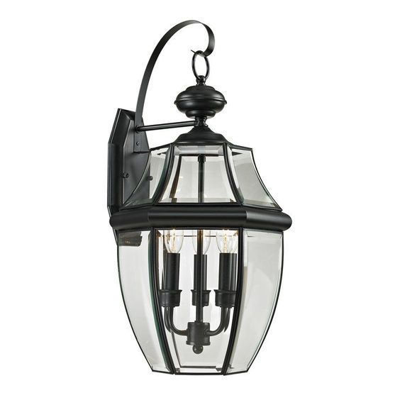 Awesome Cornerstone Lighting 8603EW Ashford 3 Light Outdoor Wall Sconce With Clear  Glass