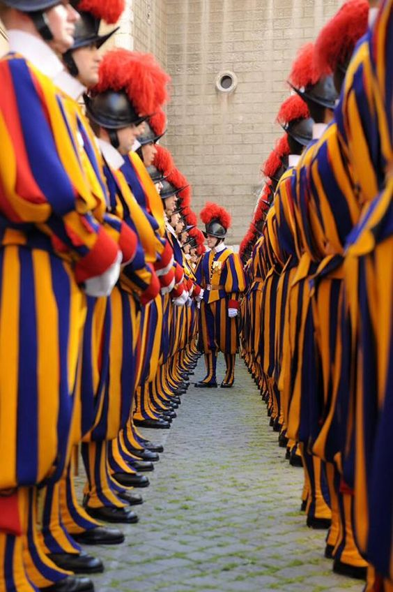 The Papal Guard, Vatican,Italy