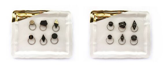 Pilar Cotter -  Chiquianillos móviles #porcelain #jewellery - back & front:
