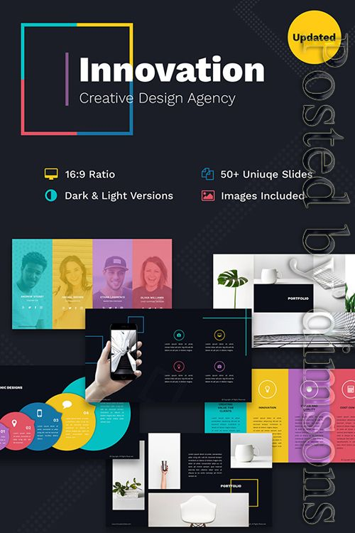 Innovation Creative Ppt For Design Agency Powerpoint Template Free