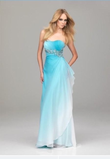 Ombré blue and white dress - Prom - Pinterest - Blue and- Blue and ...