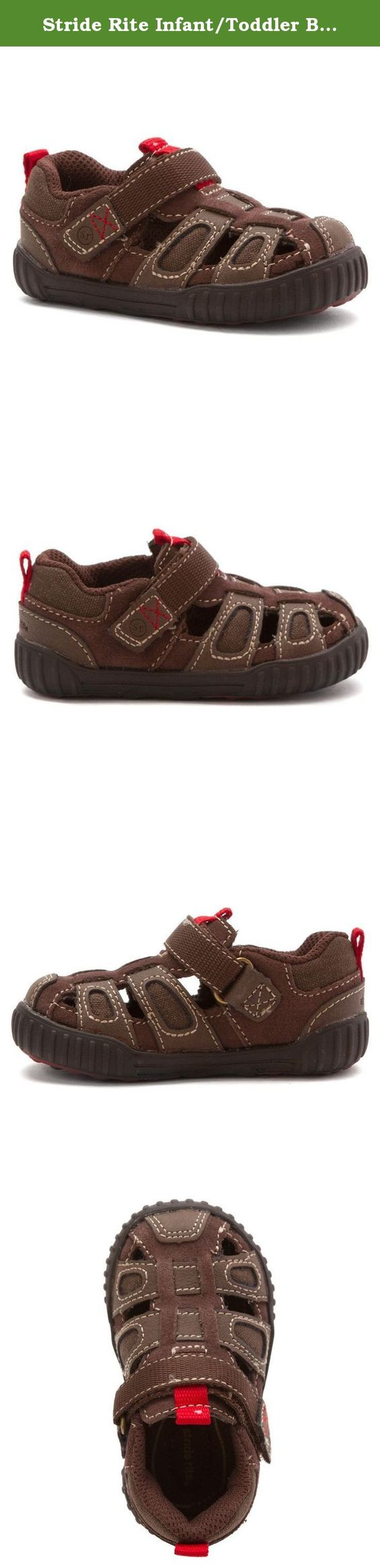 Stride Rite Infant/Toddler Boys' SRT Churchill - Toddler,Brown Leather,US 5.5 W. This fun sneaker is ready for the playground, with rounded edges to decrease stumbles and falls, memory foam for enhanced comfort, and mesh lining with antimicrobial treatment. Deep flex grooves enables natural movement. Alternative closure with H&L for easy on/off and adjustability.