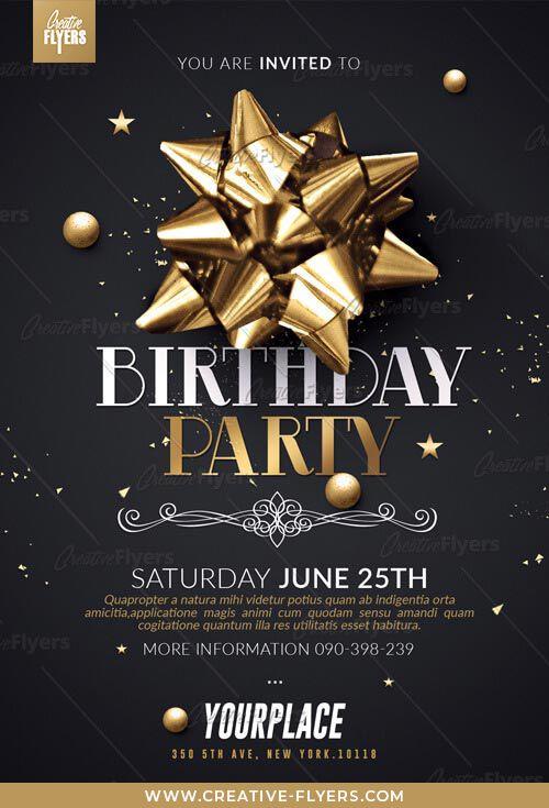 Birthday Party Flyer Templates Psd Birthday Flyer Birthday
