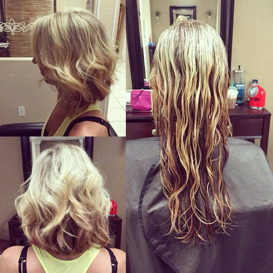 Long to short haircut.  Perfect for any time of year. Stylist Tyler at Salon Creations fort Myers fl