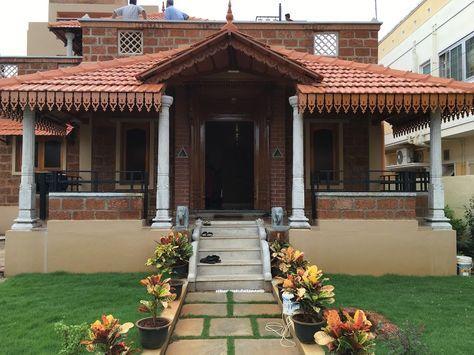 Front Door Elevation Village House Design House Exterior