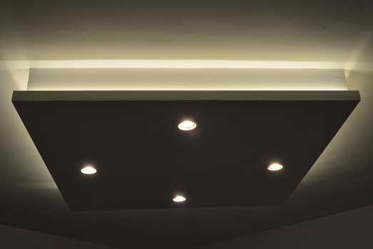 Diy A Dropped Ceiling With Lighting En 2020 Plafond Lumineux