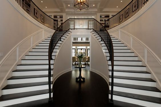 why are double staircases just so glam??