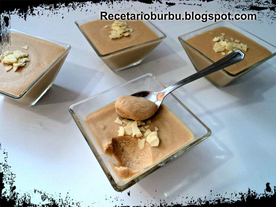 Recetario Burbu: Mousse de chocolate blanco y café th