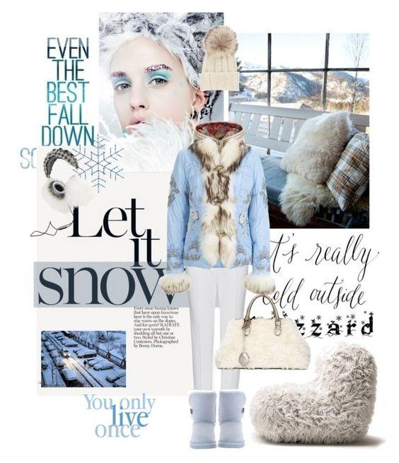 """Brrrrr! Winter Blizzard"" by lacas ❤ liked on Polyvore featuring TOUS, Fendi, Opinion Ciatti, Bogner, Dolce&Gabbana, Inverni, Rochas and blizzard"