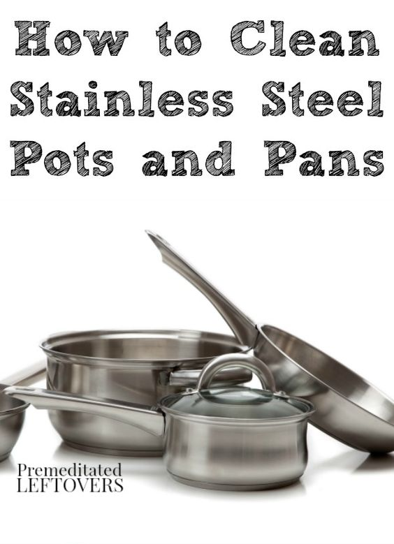 how to clean burnt stainless steel