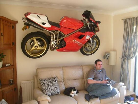 nice way to show off your bike!