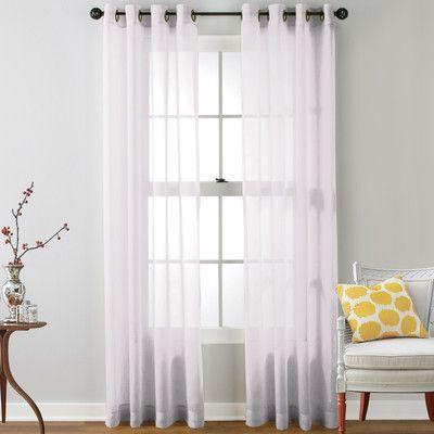 Yarmouth Light-filtering Rod Pocket Curtain Panels   Curtains ...