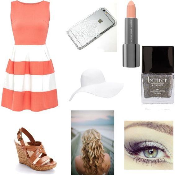 Summer nightss? by jrimer on Polyvore featuring polyvore, fashion, style, Cameo Rose, Jessica Simpson, Forever 21, Easy Spirit, Butter London and Revlon
