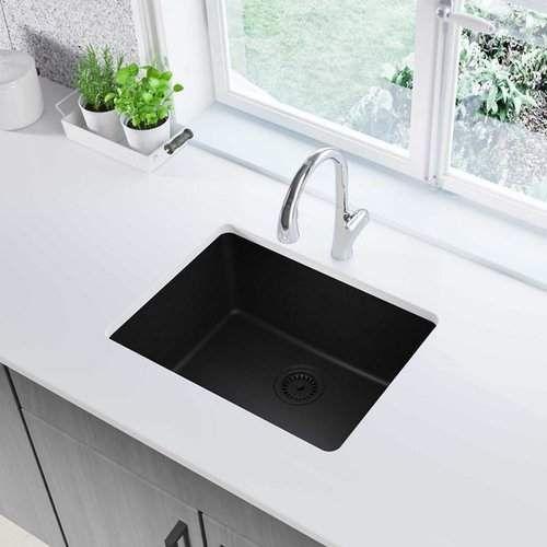 White Quartz Drop In Kitchen Sink