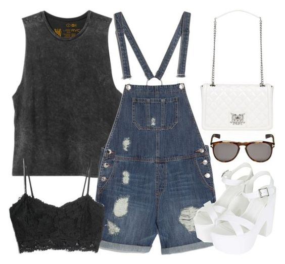 """""""Untitled #2875"""" by inthestyleofnina ❤ liked on Polyvore featuring Love Moschino, RVCA, MANGO, Topshop and Tom Ford"""