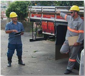 Inspeção  de segurança nas frentes de serviço