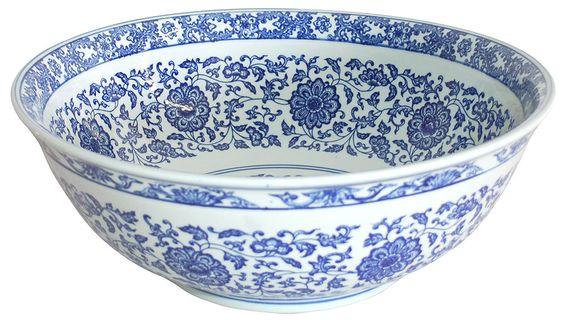 Ming Dynasty Decorative Porcelain Sink