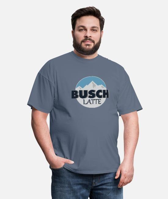 Busch Latte Men/'s Light Blue T-Shirt Blue