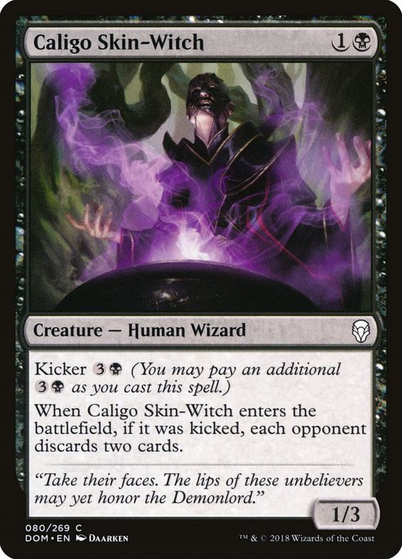 Buy Now Caligo Skin Witch Creature Human Wizard Kicker 3 B You May Pay An Additional 3 B As You Cast This Spel It Cast Witch Magic The Gathering